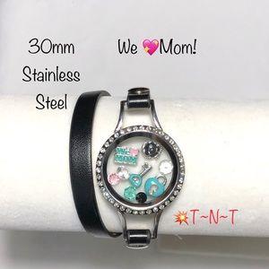Jewelry - We 💖Mom Stainless Living Wrap Bracelet